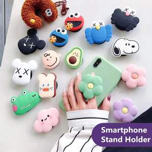 Phone Holder Stretch Bracket Cute Finger Stand Grip Strap Mobile Expanding Universal Cellphone Ring Stand For Iphone Samsung