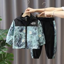 Boys Spring Toddler Hoodie Patchwork Autumn Kids Children Windproof Casual Pant Tracksuits