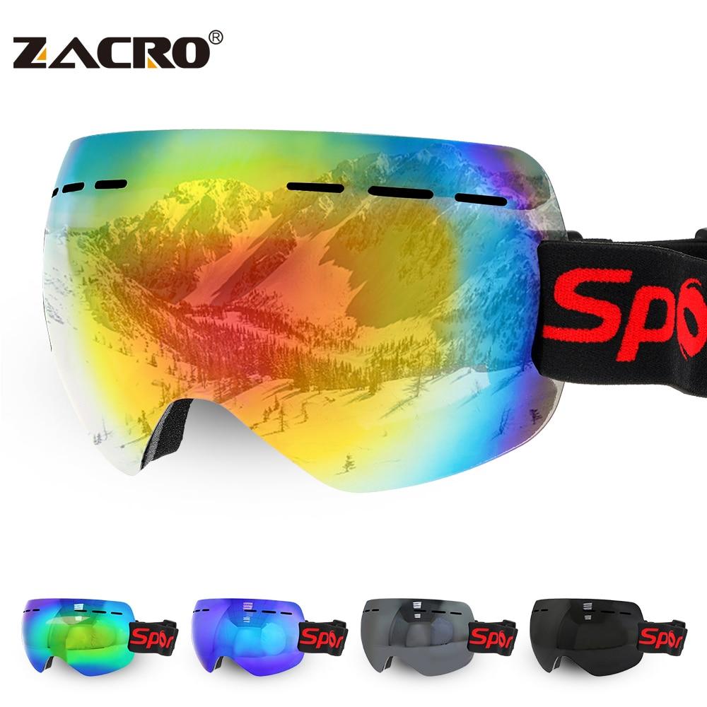Зимние лыжные очки унисекс, очки для сноуборда, снаряжение, лыжные спортивные очки для взрослых, противотуманные УФ-линзы, лыжная маска из А...