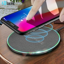 DCAE 15W Quick Qi Wireless Charger For iphone 11 Xs Max/XR/X/Huawei Mate20 Pro/ Samsung S8 S9 S10 Fast 10W Pad