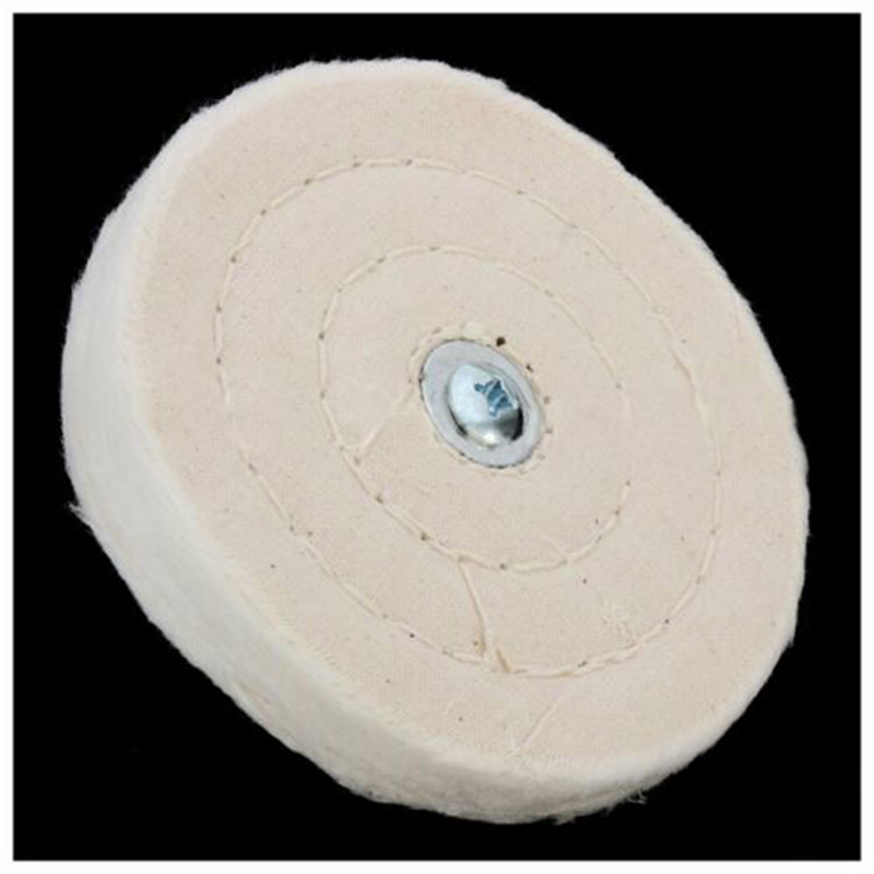 4inch 100mm Cloth Buffing Polishing Wheel Mop Wheel Pad For Power Drill Polisher Wood, Plastics, Ceramics, Glass And Watches
