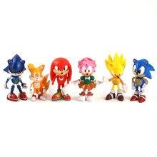6-7cm 6 pçs/pçs/set figuras animais de brinquedo personagens pvc caixa-embalado presentes para crianças