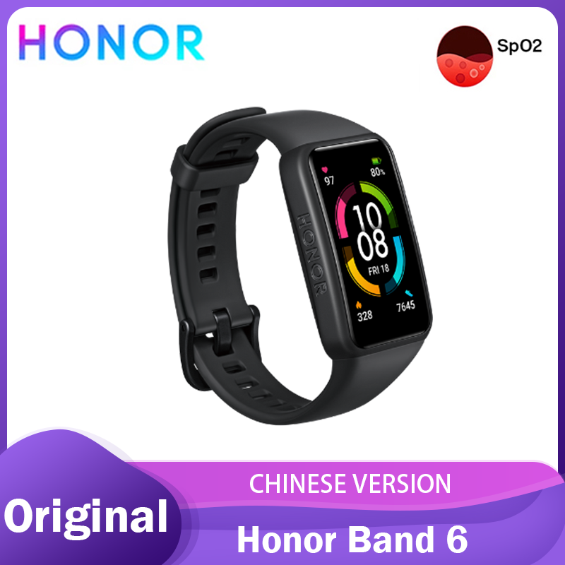 Honor Band 6 Smart Bracelet 1 47 Inch Swimming Waterproof Bluetooth Fitness Heart Rate Monitoring Music