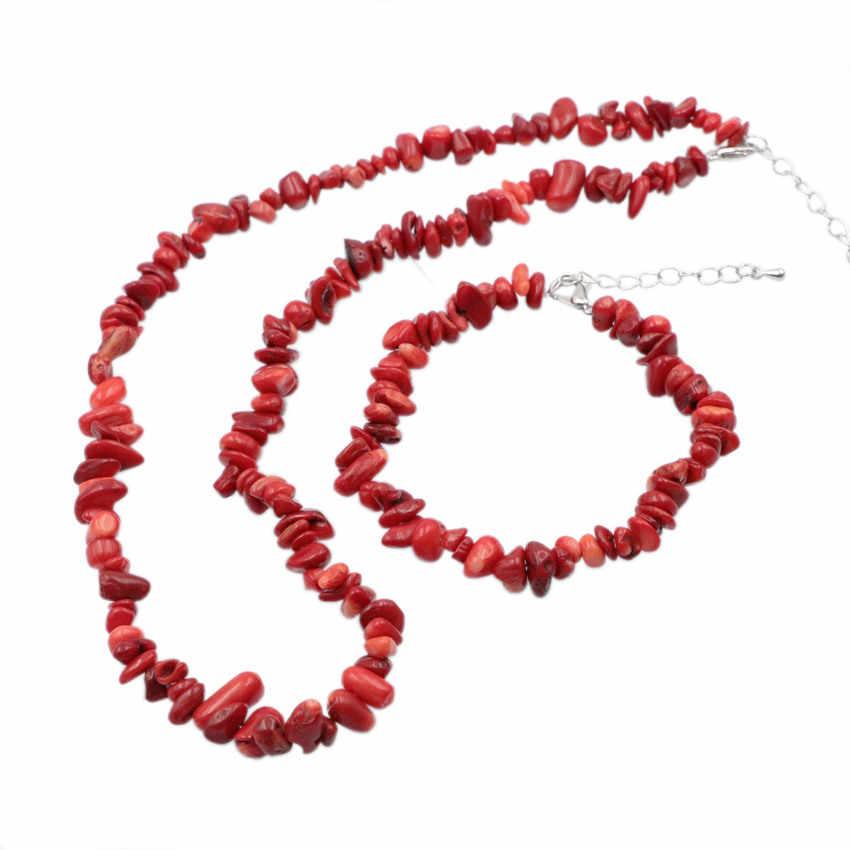 מקסים שרשרת צמיד תכשיטי דובאי סט אדום אלמוגים אבן חתונה אפריקאית חרוזים כלה סטי טבעי אבן שרשרת תכשיטי A929