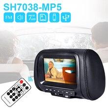 7-дюймовый HD MP5 автомобильный аудио подголовник экран монитор USB SD видео игры Музыкальный плеер Дисплей