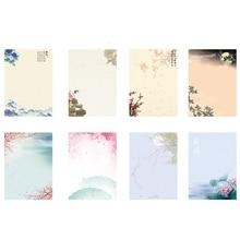 8 шт/партия винтажный Ретро Китайский древний стиль цветок набор буквенных букв канцелярские принадлежности конверт для писем для школы офиса