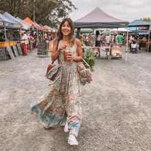 Макси Платье с цыганским принтом oasis платья v образным вырезом