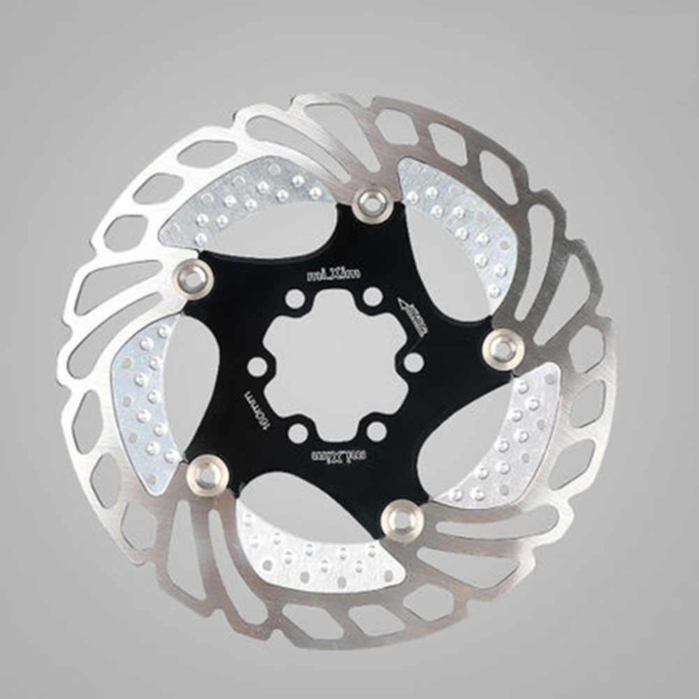 1 pièces 160mm/180mm/203mm vtt VTT frein de refroidissement Rotors 180mm en bas de la colline flottant frein de vélo cinq ongles disque flottant