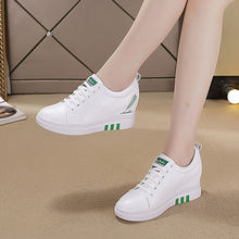 Кроссовки женские на платформе и высоком каблуке 6 см Вулканизированная