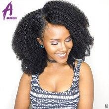 Indian Afro Kinky Curly Bundles 4B 4C Human Hair Weave Bundl