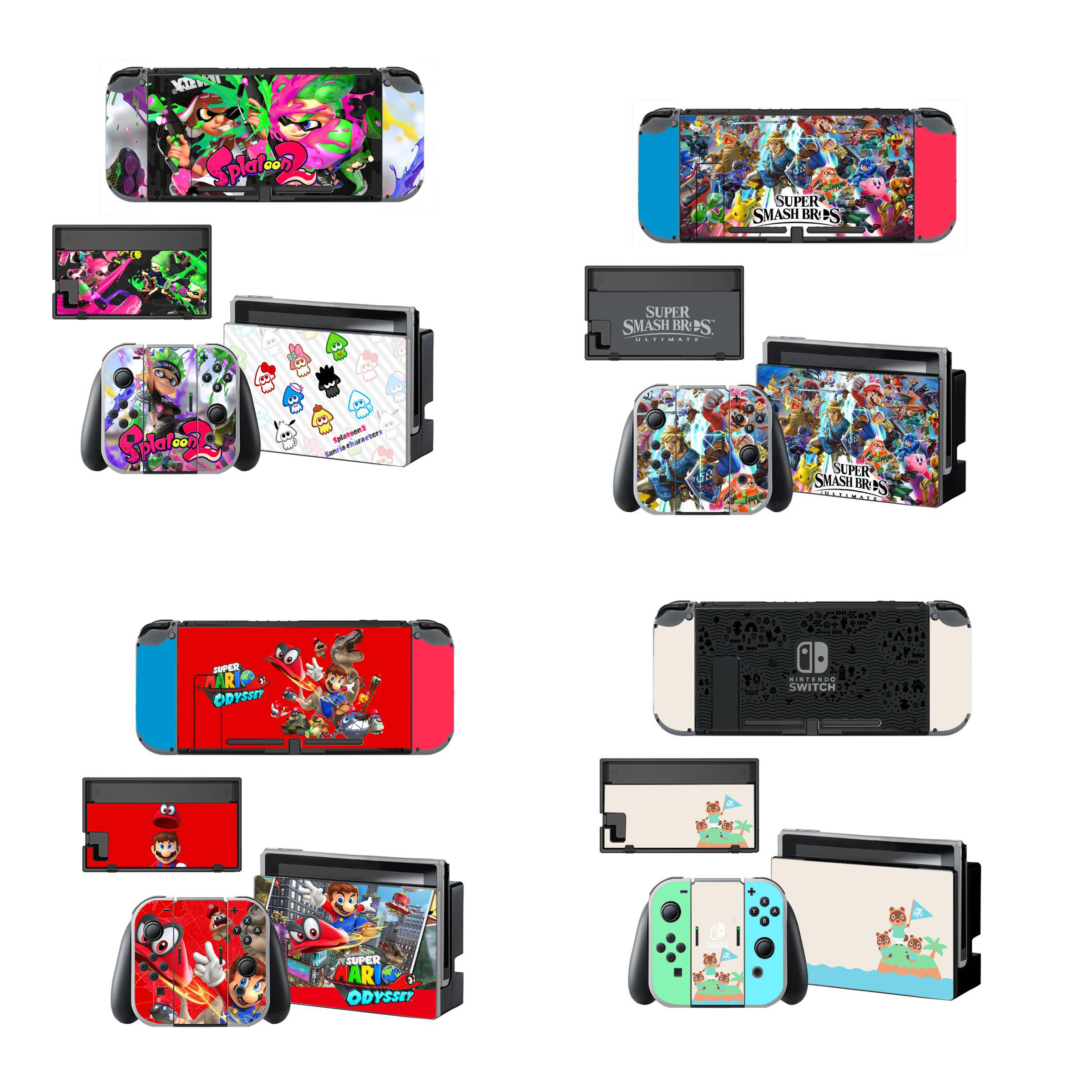 Nintend Console Joy-con Stand Holder Cover Screen Protector Protective Sticker Skin for Nintendo Switch NS Controller Case Decal(China)