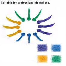400 шт./кор. одноразовые стоматологические с отверстием для всех 4 размера аспид зуб Пластик дуги вогнутой конструкции стоматологический инструмент