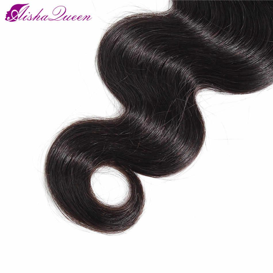 Aisha queen hair Brasiliani Dell'onda Del Corpo Dei Capelli di Trama Doppia Macchina 100% Non Remy Dei Capelli Umani Del Tessuto Brasiliano Dei Capelli