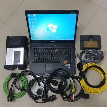 2020 super MB Star C5 for BMW ICOM A2 B C Programming 2in1 Diagnostic Tool with CF52 Laptop 1tb HDD Software Ready to Work