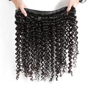 Melodie 28 30 32 40 дюймов глубокая волна пряди 100% человеческие волосы для наращивания 1 3 4 пряди индийские свободные волнистые вьющиеся волосы пряд...