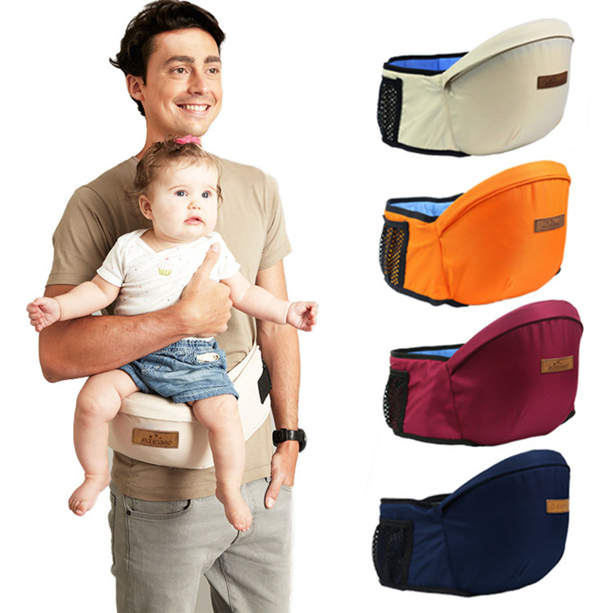 Free Shipping Puseky Baby Carrier Waist Stool Walkers Baby Sling Hold Waist Belt Backpack Hipseat Belt Kids Infant Hip Seat