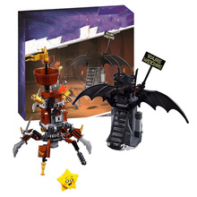 2019 Battle-Ready Batman and Metal Beard Compatible with legoines Movies 2 Series 70836 Building Blocks Toys for Children Gift gamorrean guard ewok paploo tan battle of endor with weapon dewback jabba s rancor building blocks toys for children gift kf1057