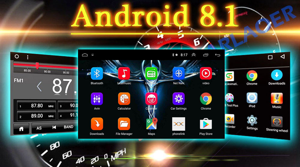 2 DIN CAR ANDROID UI