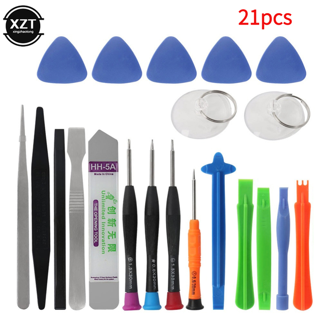 21 in 1 Mobile Phone Repair Tools Kit Spudger Pry Opening Tool Screwdriver Set for iPhone X 8 7 6S 6 Plus Tablets Hand Tools Set 1