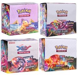 324Pcs Pokemon Cards Darkness Ablaze Vivid Voltage Rebel Clash Booster Box Trading Game Cards Fun For Kids English Version