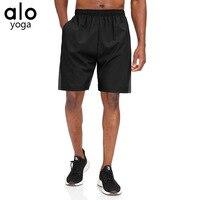 Alo-pantalones cortos deportivos de secado rápido para hombre, pantalón corto de deporte para correr, Fitness, baloncesto, ocio al aire libre, verano, 40