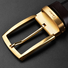 Ciartuar Belt Men Casual High Quality Genuine Leather Business Luxury Belts  Pin Buckle Designer Waist Gold Mens