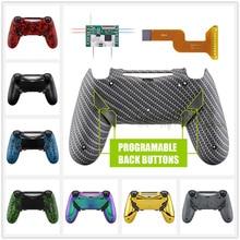 عدة إعادة رسم خريطة الفجر القابلة للبرمجة لجهاز تحكم PS4 النحيل الاحترافي JDM 040/050/055 واط/غطاء خلفي و 4 أزرار خلفية