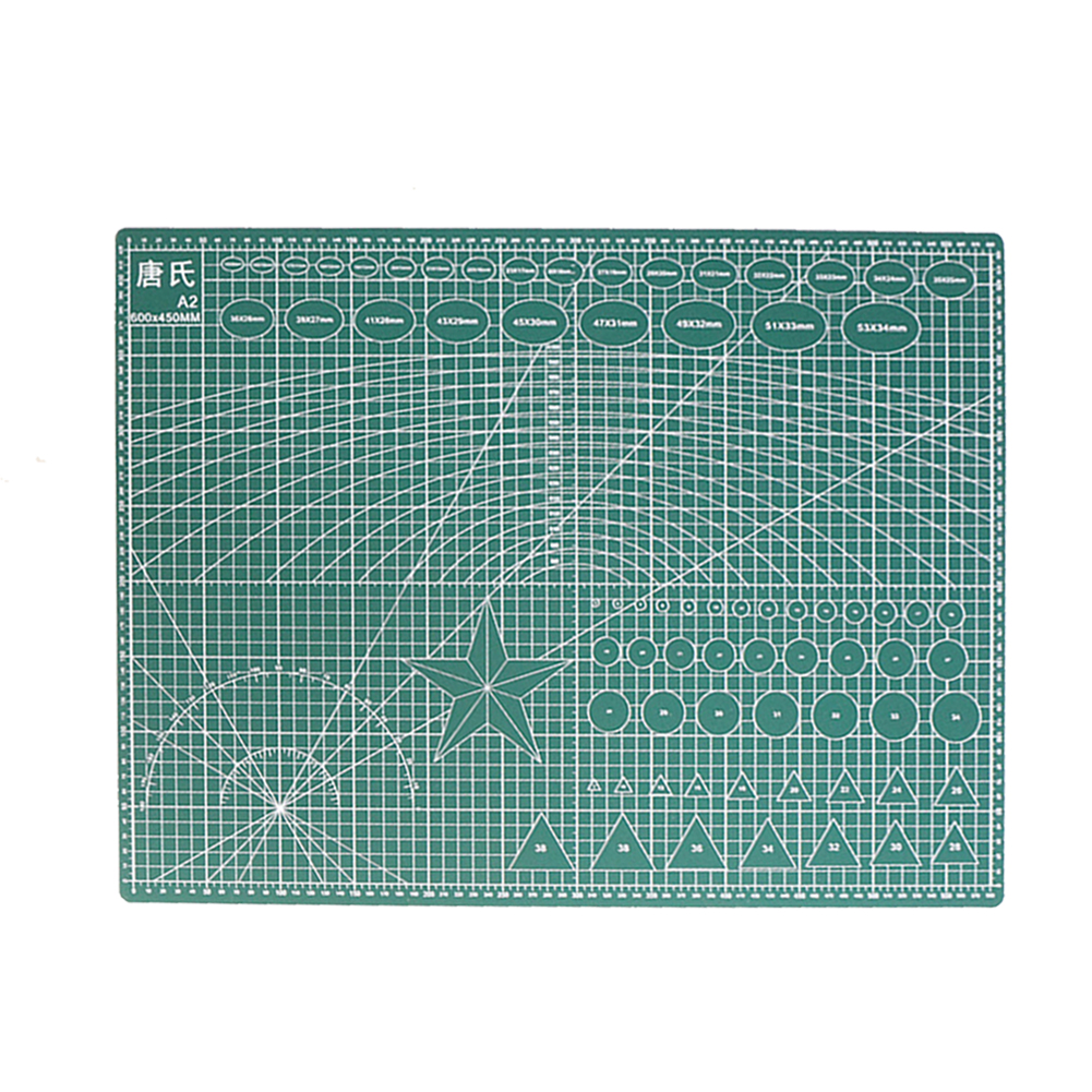 A2 Double-sided Cutting Board PVC Cutting Mat Pad Patchwork Writing Antiskid Antistatic Students Families Office Drawing Tool