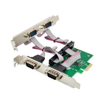 PCI-E 4port serial card RS232 expansion card 4-port enterprise-grade pcie to serial port Desktop 4-port serial adapter pci e 4 port usb3 0 expansion card green