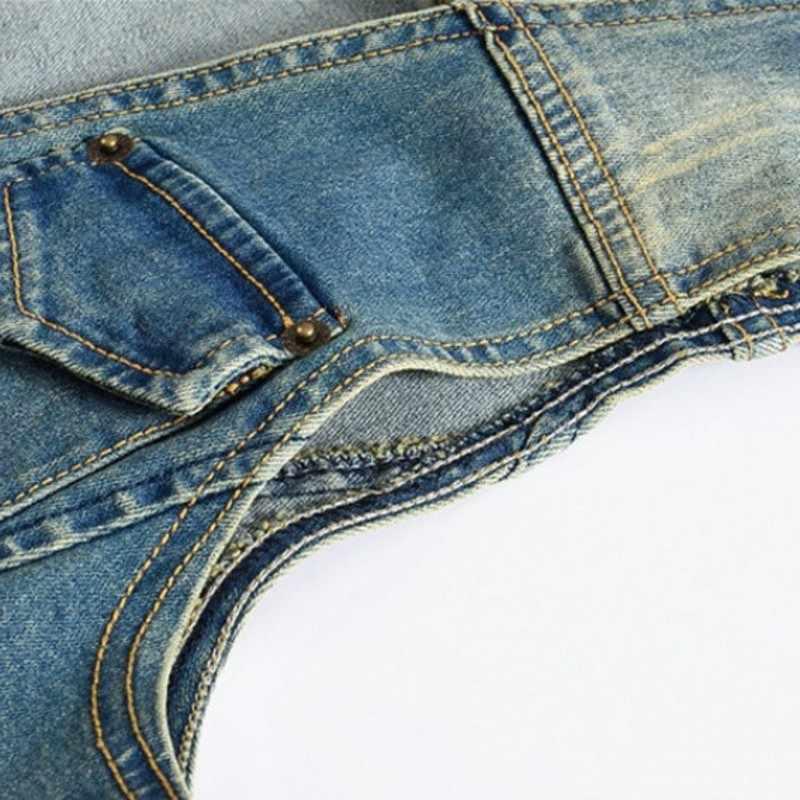 Casual Heren Vest Gepersonaliseerde Mode Slim Fit Vintage Mouwloos Denim Vest Man Jas Harajuku Gewassen Chaqueta Hombre