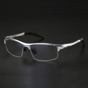 Image 1 - Monture de lunettes optique pour homme, monture en alliage, 8177, Prescription lunettes pour hommes, demi jante