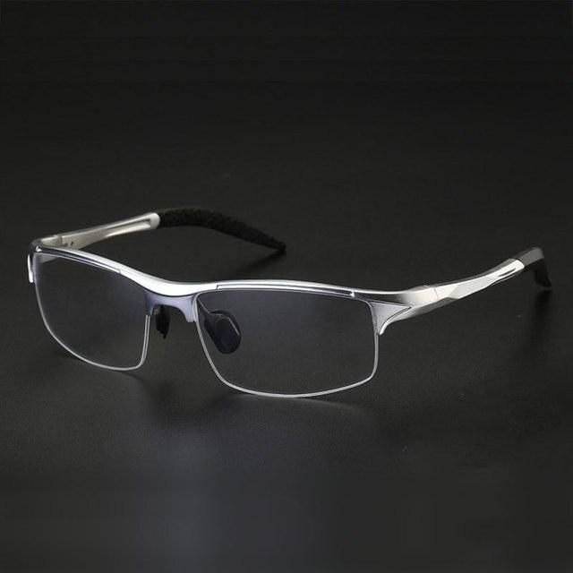 Monture de lunettes optique pour homme, monture en alliage, 8177, Prescription lunettes pour hommes, demi jante