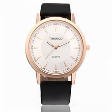 Women Watches New Fashion Simple Rose Gold Dial Watch Quartz Watch Leather Watchband Round Dial Clock Reloj Mujer nylon watchband quartz watch lovers casual new fashion brand dw yba thin gold silver dial men and women quartz watches