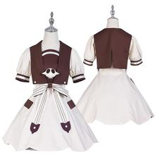Vestido de Cosplay de Hanako kun Nene Yashiro, vestido de Cosplay de Jibaku, Shounen Aoi Akane, calcetines para uniformes, peluca