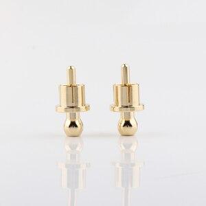 Image 2 - RCA Cap schutz staub proof Gold Überzogene Lärm Stopper Abschirmung Caps