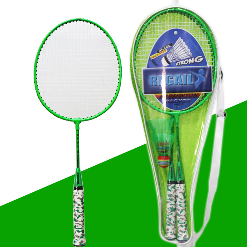 Kids Battledore School PE Class Entertainment Equipment Children Badminton Racket Set