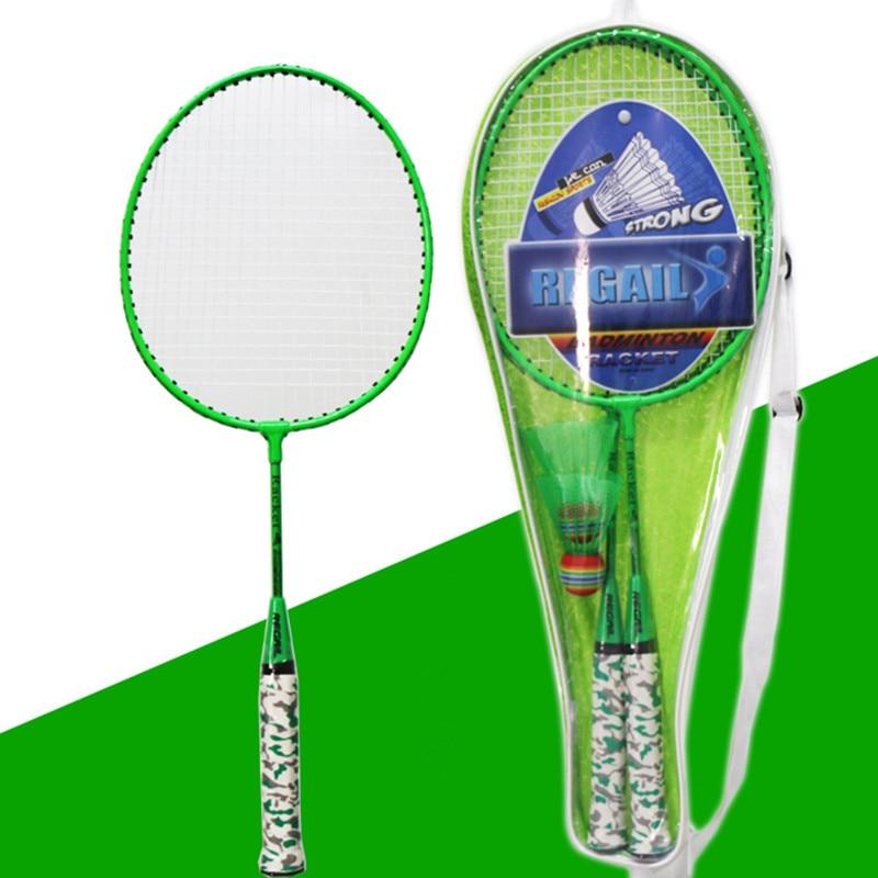 Kids Battledore School PE Class Entertainment Equipment Children Badminton Racket Set