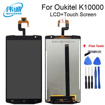 WEICHENG Top Quality Replacement For 5.5 Inch Oukitel K10000 LCD Display and Touch Screen Digitizer Assembly +Free Tools 5 inch white black for zte voyage 4 blade a610 lcd display touch screen digitizer assembly replacement free tools