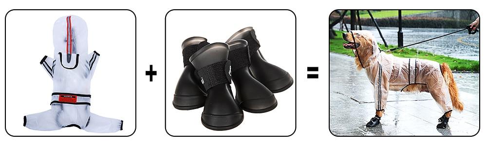 雨衣+雨鞋关联营销