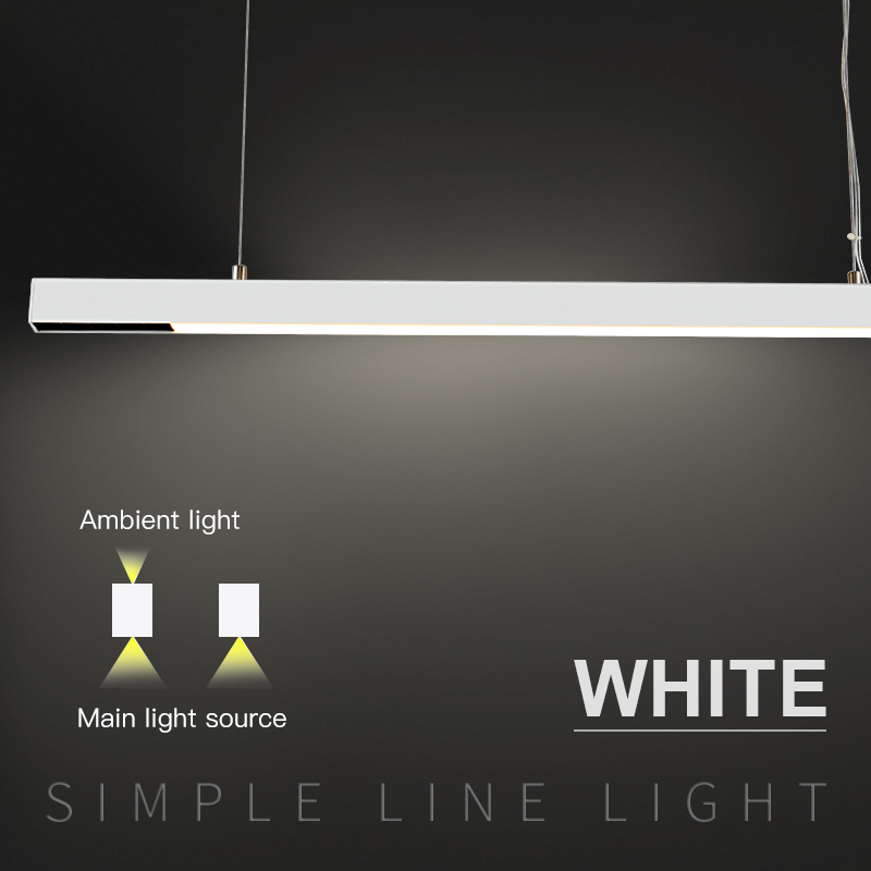 Table and bar work White led spot suspension lights 30W flood linear pendant lighting image