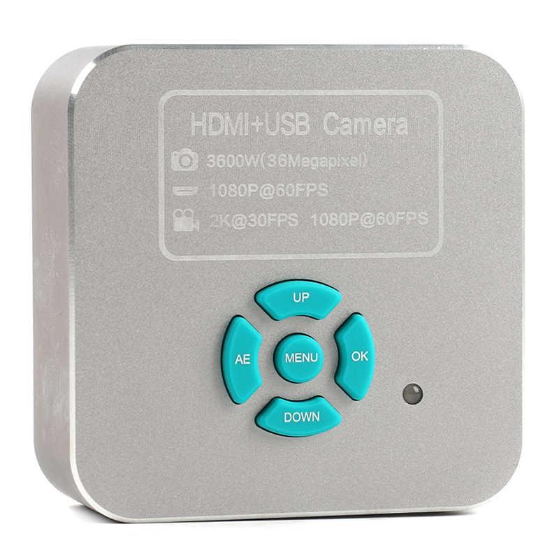 36MP 1080P 60FPS 2K HDMI USB электронный цифровой видео микроскоп камера для промышленная инспекция PCB ремонт пайки