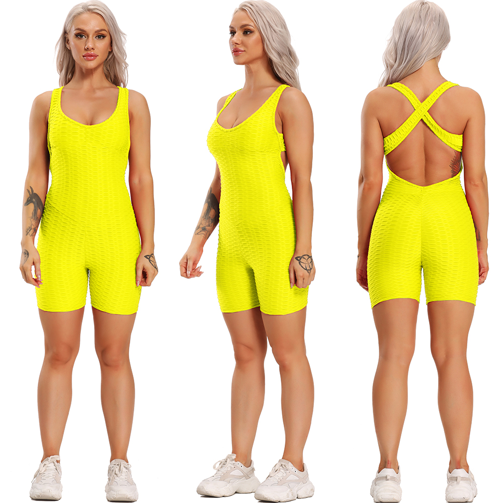 Yoga Set Fitness Women Sport Suit Jumpsuit 2021 Sexy Sleeveless Tracksuit Backless Gym Running Sportswear Leggings Workout Sport