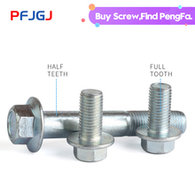 Peng Fa M5-M12 Grade 8.8 GB5787-86 Galvanized Hexagonal Flange Bolts Screws Belt Pad Full Thread/Partial Thread
