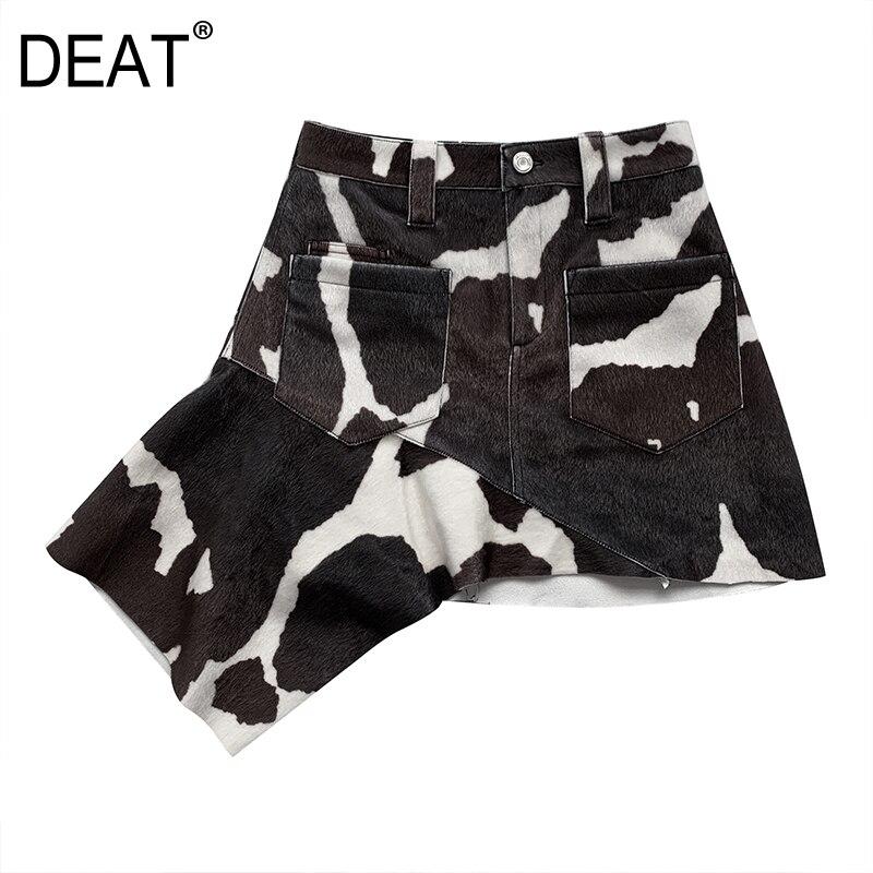 DEAT 2020new Summer High Quality Design Women Clothes High Waist Pencil Mini Length Halfbody Skirt WL36701L