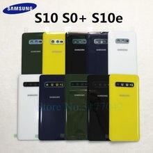 Arka cam Arka Kapak batarya muhafazası Kapı Değiştirme + Kamera Çerçeve Samsung Galaxy S10 G9730 S10 Artı S10 + G9750 s10E G970
