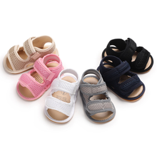 Baby Sandals Toddler Infant Hollow Soft Crib Sole Canvas Shoes Little Girls Boys Kids Soft Crib Prewalker Sandals Clogs