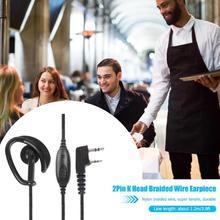 1,2 м 2Pin гарнитура, функция ptt с микрофоном ушной крючок межфонные наушники для Kenwood силиконовые наушники Висячие мягкие и удобные