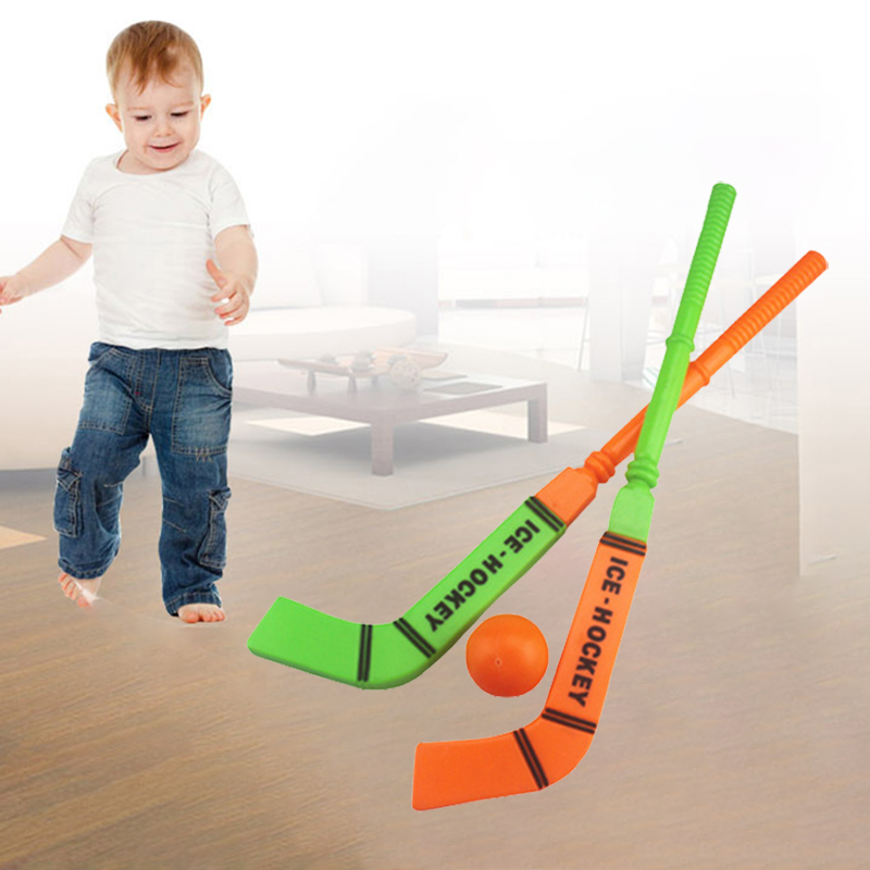Hockey Sticks Red Ball Toy Children Outdoor Sports Color Mixed ABS Environmentally Friendly Plastic Home Entertainment Gifts