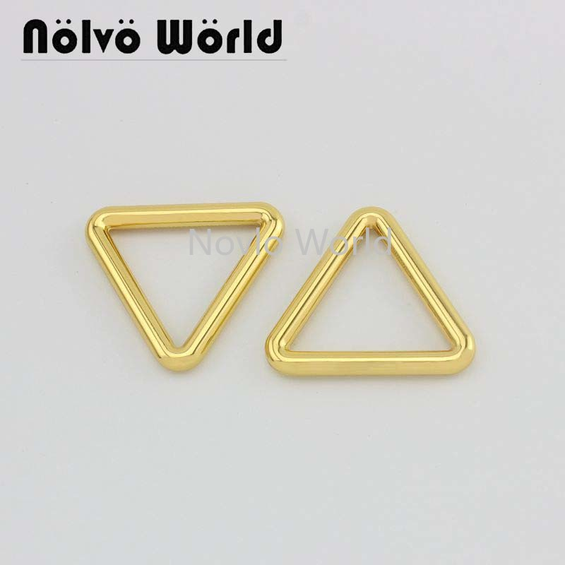 Wholesale 500pcs, 4 Colors Accept Mix Color, 33.4*29mm, Metal Buckle Triangle Shape Buckle For Handbag Leather Craft Accessories
