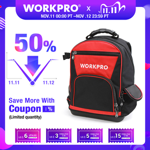 Image 1 - WORKPRO 2020 New Tool Bag 17 Backpack Waterproof Organizer Bag 60 Pocket Multifunctional Storage Bags for Man